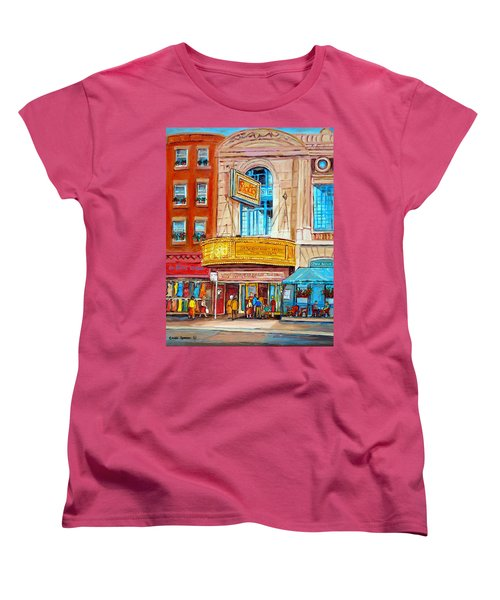 The Rialto Theatre Montreal Women's T-Shirt (Standard Cut) by Carole Spandau