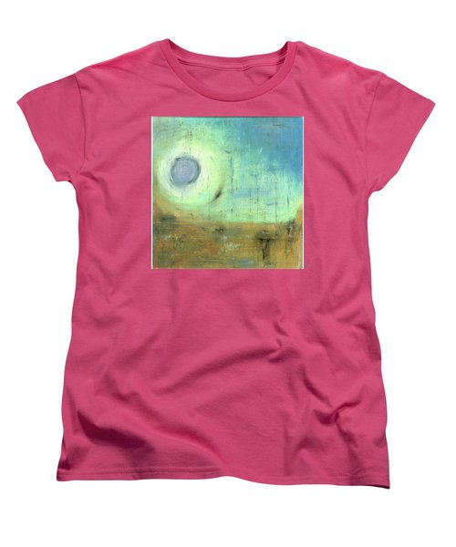 Women's T-Shirt (Standard Cut) featuring the painting The Rising Sun by Michal Mitak Mahgerefteh