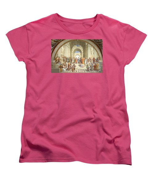 The School Of Athens, Raphael Women's T-Shirt (Standard Cut) by Science Source