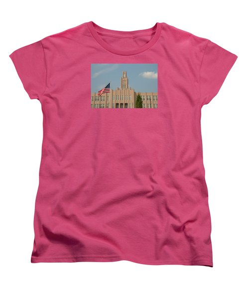 Women's T-Shirt (Standard Cut) featuring the photograph The School On The Hill by Mark Dodd