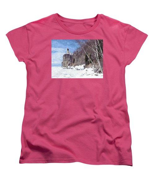 The Shoreline Lighthouse Women's T-Shirt (Standard Cut) by Maciek Froncisz
