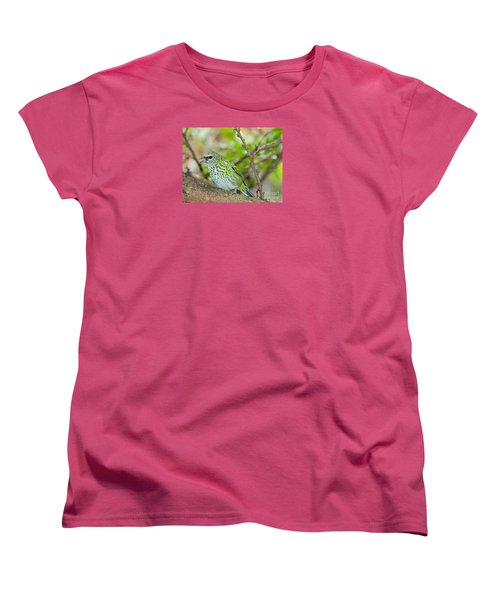 Women's T-Shirt (Standard Cut) featuring the photograph The Spotted Tanager by Judy Kay