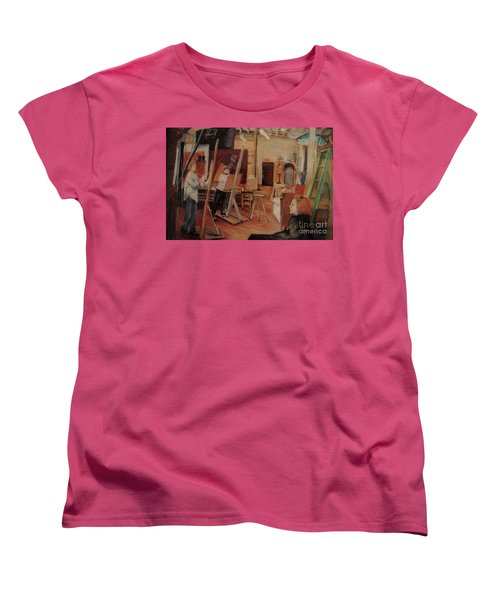 The Studio Women's T-Shirt (Standard Cut) by Nancy Kane Chapman