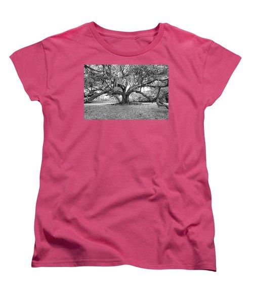The Tree Of Life Monochrome Women's T-Shirt (Standard Cut) by Steve Harrington