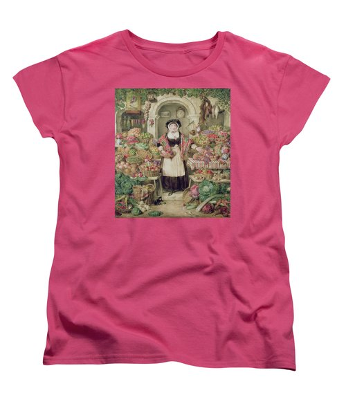The Vegetable Stall  Women's T-Shirt (Standard Cut) by Thomas Frank Heaphy