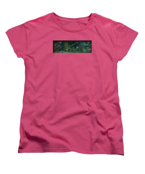 Women's T-Shirt (Standard Cut) featuring the drawing The Visitor by Dawn Fairies