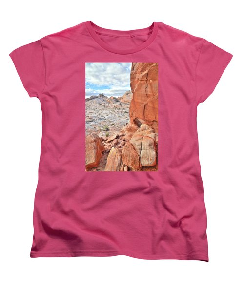 The Wall At Valley Of Fire Women's T-Shirt (Standard Cut) by Ray Mathis