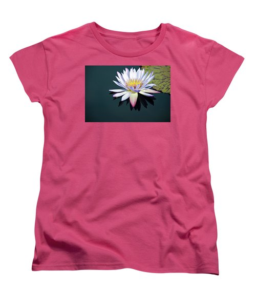 The Water Lily Women's T-Shirt (Standard Cut) by David Sutton