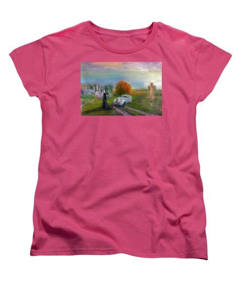 The Widow Women's T-Shirt (Standard Cut) by Michael Cleere