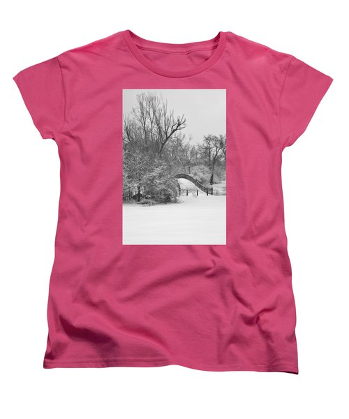 The Winter White Wedding Bridge Women's T-Shirt (Standard Cut) by Daniel Thompson