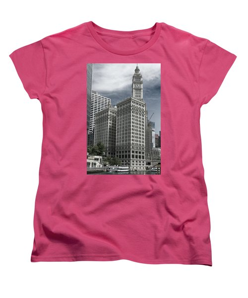 The Wrigley Building Women's T-Shirt (Standard Cut) by Alan Toepfer