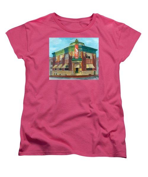 The Yellow Brick Bank Restaurant Women's T-Shirt (Standard Cut) by Lynne Reichhart