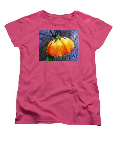 The Yellow Flower Women's T-Shirt (Standard Cut) by Janet Garcia