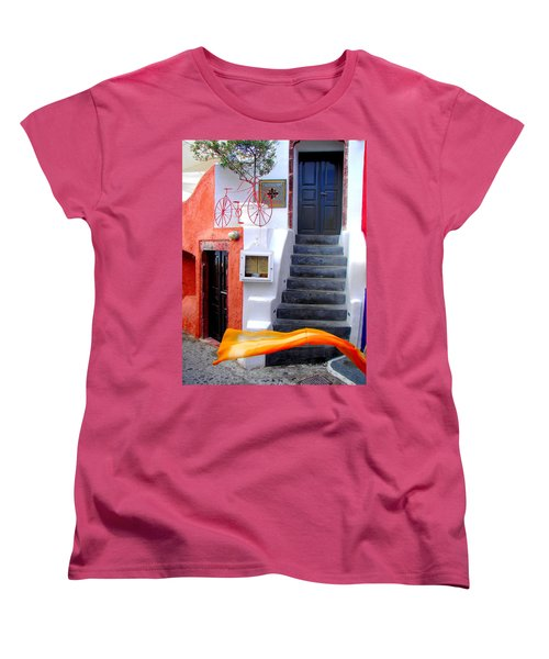 Women's T-Shirt (Standard Cut) featuring the photograph The Yellow Scarf by Ana Maria Edulescu