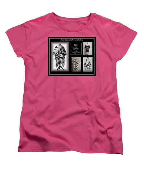 The Zebra Collection Women's T-Shirt (Standard Cut) by Geraldine Alexander