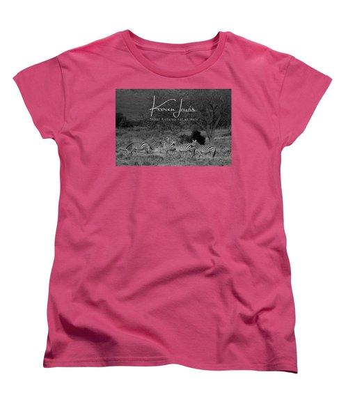 Women's T-Shirt (Standard Cut) featuring the photograph The Zebra Tree by Karen Lewis