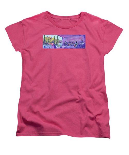 Thin Air At Dillon Amphitheater Women's T-Shirt (Standard Cut) by David Sockrider
