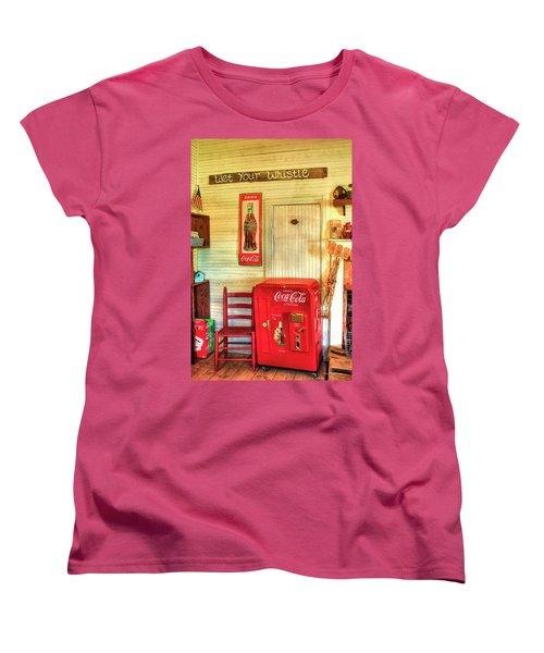 Thirst-quencher Old Coke Machine Women's T-Shirt (Standard Cut) by Reid Callaway