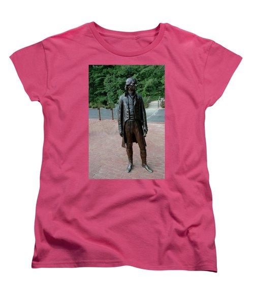 Thomas Jefferson At Monticello Women's T-Shirt (Standard Cut) by LeeAnn McLaneGoetz McLaneGoetzStudioLLCcom