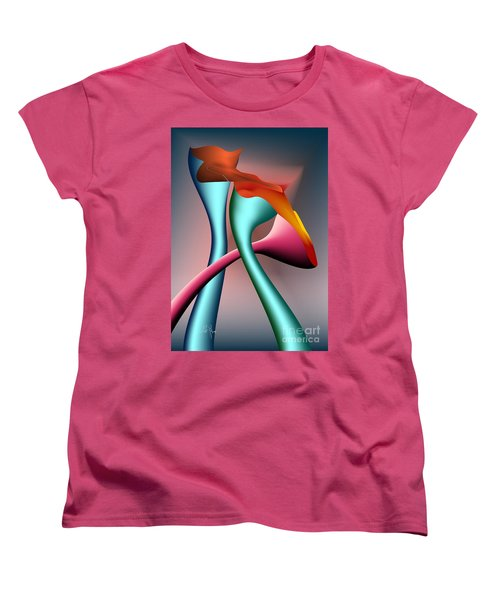 Women's T-Shirt (Standard Cut) featuring the digital art Three Choices by Leo Symon