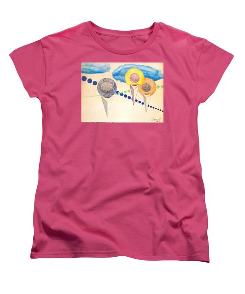 Women's T-Shirt (Standard Cut) featuring the painting The Recession Of Depression 2 by Rod Ismay