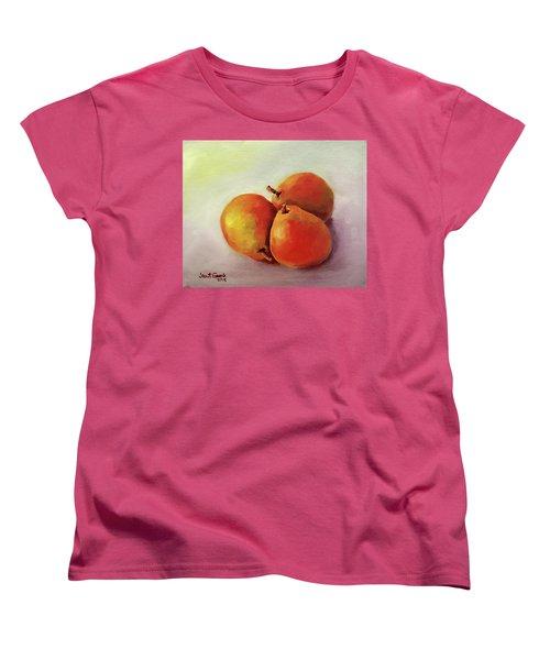Three Pears Women's T-Shirt (Standard Cut) by Janet Garcia