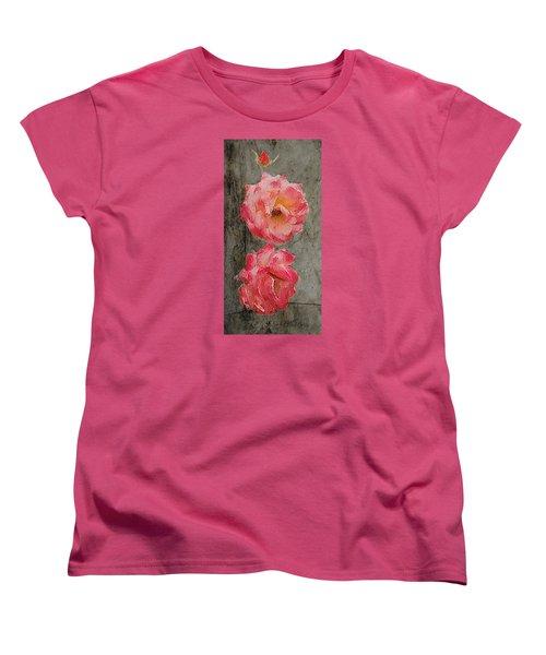 Three Roses Women's T-Shirt (Standard Cut) by Dale Stillman