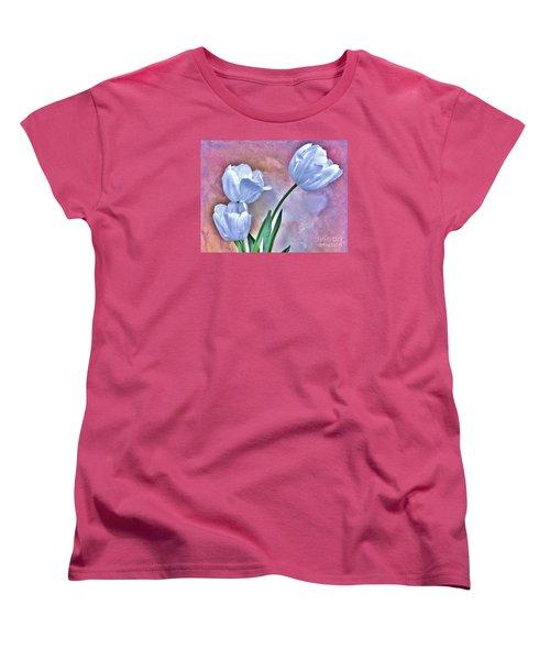 Three White Tulips Women's T-Shirt (Standard Cut)