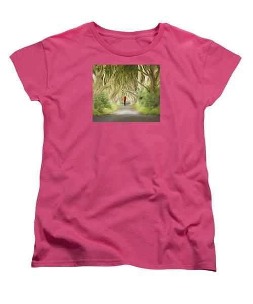 Through The Trees Women's T-Shirt (Standard Cut) by Roy  McPeak