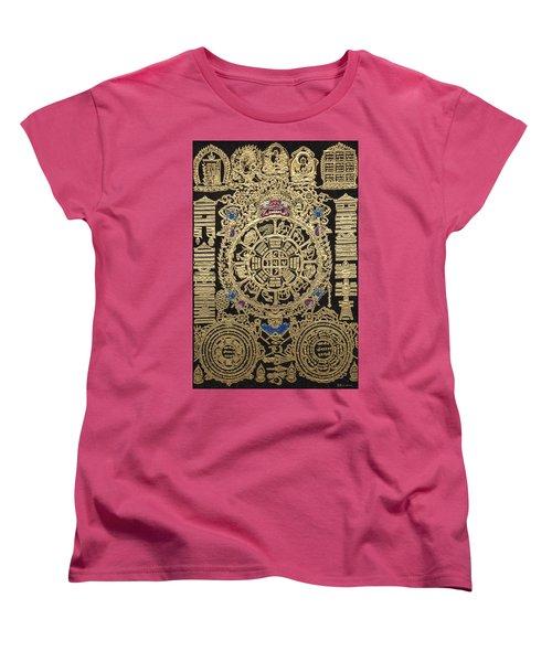 Tibetan Astrological Diagram Women's T-Shirt (Standard Cut) by Serge Averbukh