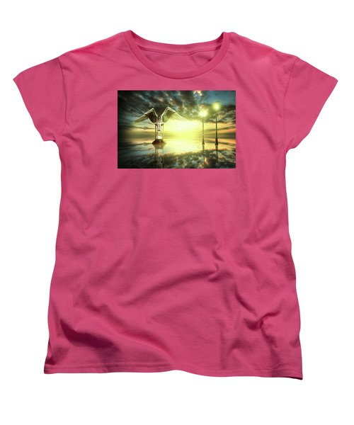 Women's T-Shirt (Standard Cut) featuring the digital art Time To Reflect by Nathan Wright