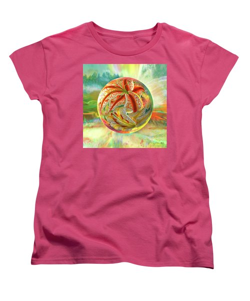 Women's T-Shirt (Standard Cut) featuring the digital art Tiger Lily Dream by Robin Moline