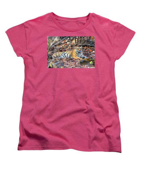 Tigress In The Woods Women's T-Shirt (Standard Cut) by Pravine Chester