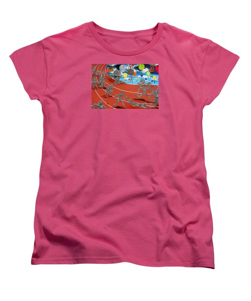 Time Is Moving Women's T-Shirt (Standard Cut) by Raymond Perez