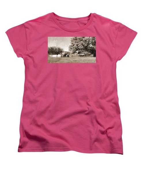 Timeworn Women's T-Shirt (Standard Cut) by Susan Kinney