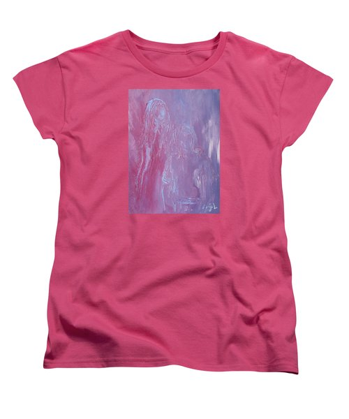 Women's T-Shirt (Standard Cut) featuring the painting Togetherness by Jane See