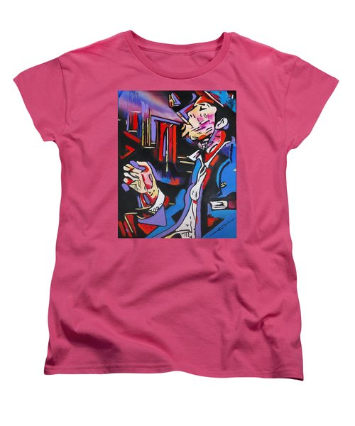 Women's T-Shirt (Standard Cut) featuring the painting Tom Traubert's Blues by Eric Dee
