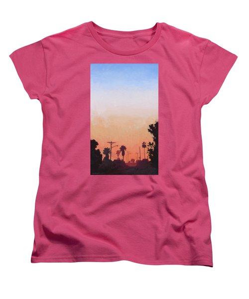 Tonal Hollywood Women's T-Shirt (Standard Cut) by Andrew Danielsen