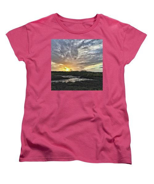 Tonight's Sunset From Thornham Women's T-Shirt (Standard Cut) by John Edwards