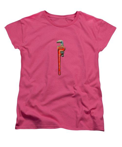 Tools On Wood 62 On Bw Women's T-Shirt (Standard Cut) by YoPedro