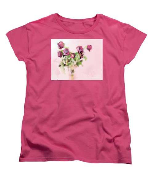 Women's T-Shirt (Standard Cut) featuring the mixed media Touchable by Betty LaRue