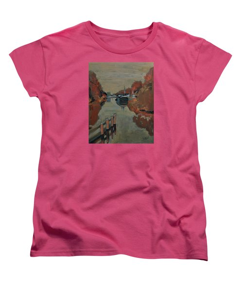 Women's T-Shirt (Standard Cut) featuring the painting Towards Pius Harbour by Nop Briex