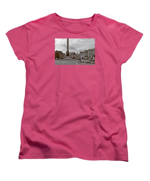 Women's T-Shirt (Standard Cut) featuring the photograph Trafalgar Square Sunday Morning by Nop Briex