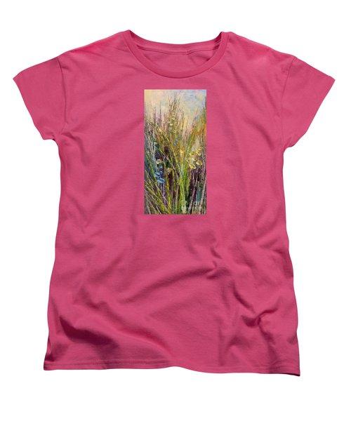 Women's T-Shirt (Standard Cut) featuring the painting Trail Of Beauty by Tatiana Iliina