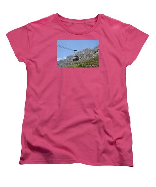 Tramway To Cable Mountain Women's T-Shirt (Standard Cut) by Bev Conover