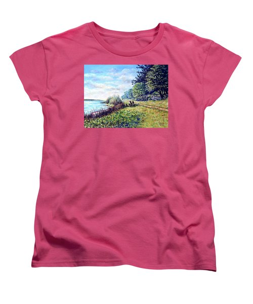 Women's T-Shirt (Standard Cut) featuring the painting Tranquility by Heidi Kriel