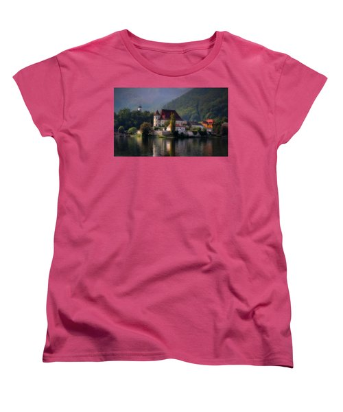 Women's T-Shirt (Standard Cut) featuring the photograph Traunkirchen - Austria by Ellen Heaverlo