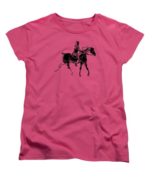 Women's T-Shirt (Standard Cut) featuring the drawing Traveler by Mary Armstrong