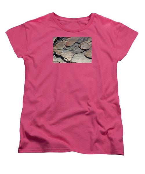 Women's T-Shirt (Standard Cut) featuring the photograph Tree Bark 2 by Jean Bernard Roussilhe