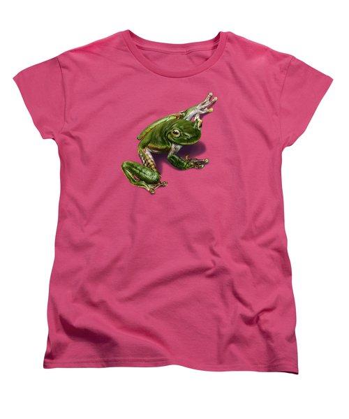 Tree Frog  Women's T-Shirt (Standard Cut) by Owen Bell